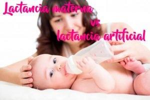 Lactancia materna vs lactancia artificial